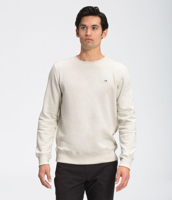 'The North Face' Men's Heritage Patch Crew Sweatshirt - Vintage White
