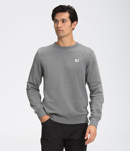 'The North Face' Men's Heritage Patch Crew Sweatshirt - Medium Grey Heather