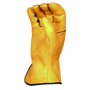 'Bear Knuckles' Double Wedge™ Heavy Duty Cowhide Driver Glove - Yellow