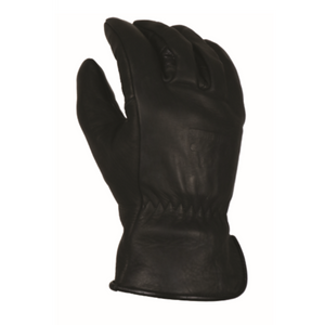 'Bear Knuckles' Double Wedge™ Fleece-Lined Water Resistant Cowhide Driver Glove - Black