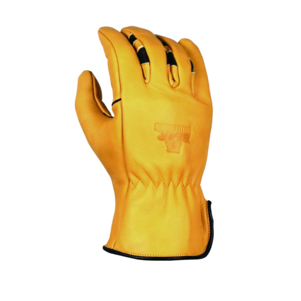 'Bear Knuckles' Double Wedge™ Regular Duty Cowhide Driver Glove - Yellow