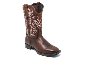 "'CEBU' Men's 12"" Pradera Western Square Toe - Chocolate"