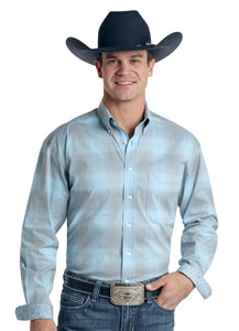 'Panhandle Slim' Men's Grandview Western Button Front - Lt. Blue