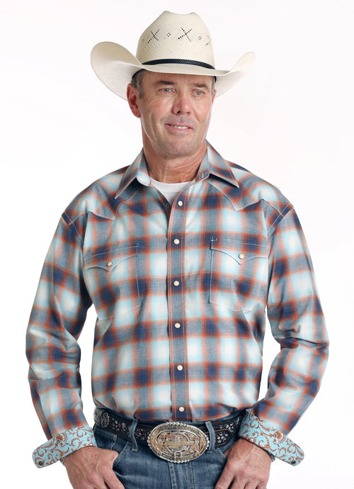'Panhandle Slim' R0S1504 - LS Western Snap Shirt - Plaid