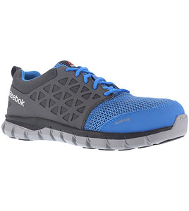 'Reebok' Men's Sublite Cushion ESD Alloy Toe - Blue / Grey
