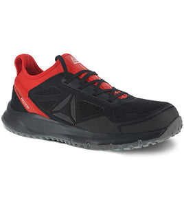 'Reebok' Men's All Terrain Athletic Steel Toe - Black / Red