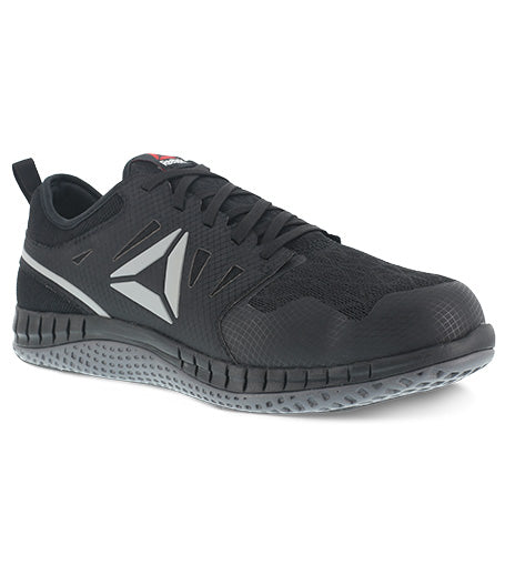 'Reebok' Men's ZPrint Athletic Steel Toe - Black / Dark Grey