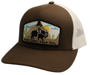 'Red Dirt Hat' Jango Rides Again Patch Hat - Brown / White
