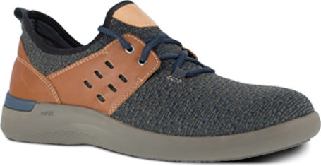 'Rockport' Men's Truflex ESD Comp Toe Sneaker - Blue / Tan