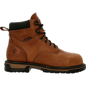 "'Rocky' Men's 6"" IronClad EH WP Steel Toe - Brown"