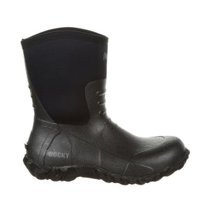 "'Rocky' Men's 10"" Core Chore WP Rubber Boot - Black"