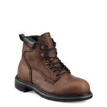 "'Red Wing' Men's 6"" SuperSole® Int. Metguard EH WP Steel Toe - Brown / Black"