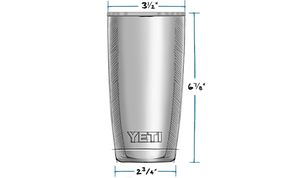 'YETI' 20 oz. Rambler Insulated Tumbler - Stainless Steel
