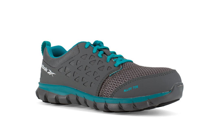 'Reebok' Women's Sublite Cushion ESD SR Alloy Toe - Grey / Turquoise
