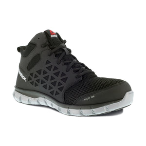 'Reebok' Men's Mid Sublite Cushion ESD Alloy Toe - Black / Gray