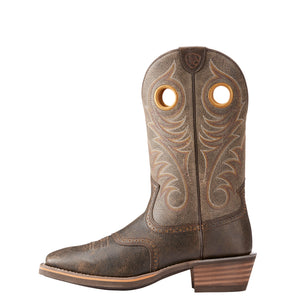 "'Ariat' Men's 12"" Heritage Roughstock - Grey / Brooklyn Brown"