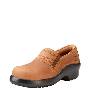'Ariat' Women's Expert Safety Clog ESD Comp Toe - Tan