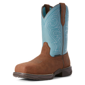 "'Ariat' Women's 10"" Anthem Comp Toe Work - Brown / Arctic Ice"