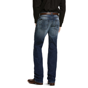 'Ariat' Men's M5 Slim Stretch Angler Stackable Straight - Cinder