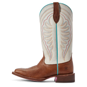 "'Ariat' Women's 12"" Circuit Shiloh Western Square Toe - Brown / White"