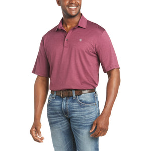 'Ariat' Men's Charger 2.0 Polo - Malbec