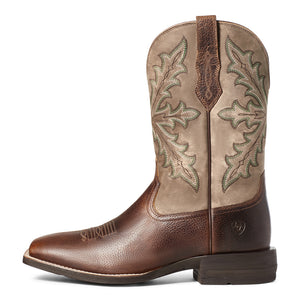 "'Ariat' Men's 11"" Qualifier Western Square Toe - Wicker"