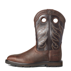 "'Ariat' Men's 11"" Groundwork Western EH Soft Toe - Brown"