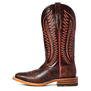 "'Ariat' Women's 12"" Belmont Western Square Toe - Crackled Cafe"