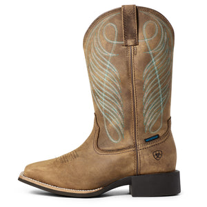 "'Ariat' Women's 11"" Roundup Western WP Square Toe - Distressed Brown"