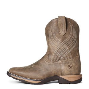 "'Ariat' Youth 8"" Anthem Western Square Toe - Brown Bomber"