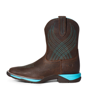 "'Ariat' Youth 8"" Anthem Western Square Toe - Brown Croco Print"