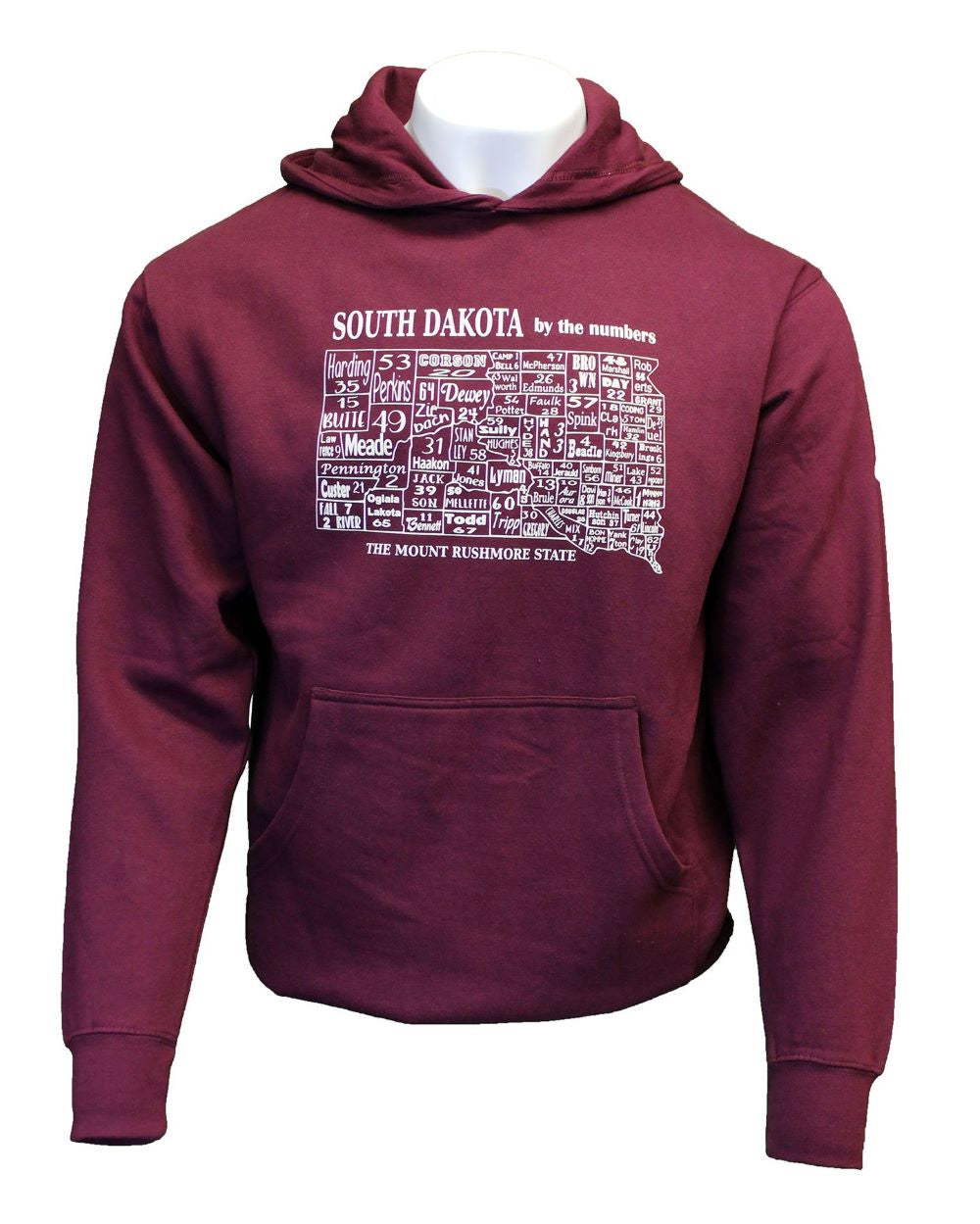 'ScratchPad Tees' Unisex SD By The Numbers Hoodie - Maroon