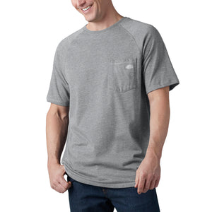 'Dickies' Performance Temp-IQ Cooling T-Shirt - Heather Grey