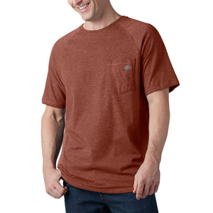 'Dickies' Performance Temp-IQ Cooling T-Shirt - Red Rock Heather