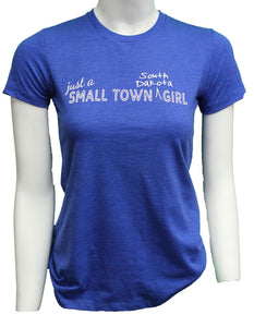 'ScratchPad Tees' Women's Smalltown SD Tee - Royal Heather
