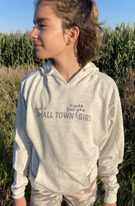 'ScratchPad Tees' Women's Small Town SD Hoodie - Oatmeal