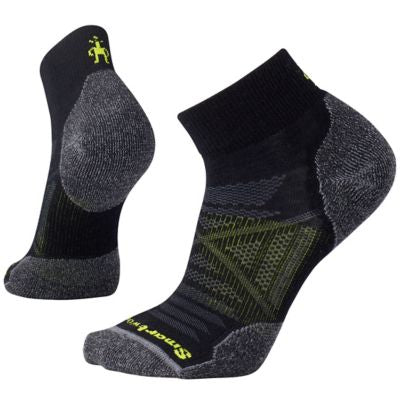 PhD Outdoor Light Mini Socks - Black / Heather Gray / Lime Green
