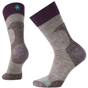 PhD Hunt Light Crew Socks - Taupe / Magenta / Charcoal