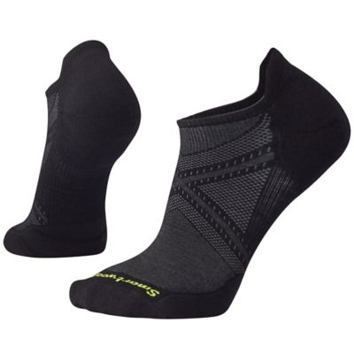 PhD Run Light Elite Micro Sock - Black / Charcoal / Lime Green