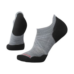 PhD Run Light Elite Micro Socks - Light Gray / Black