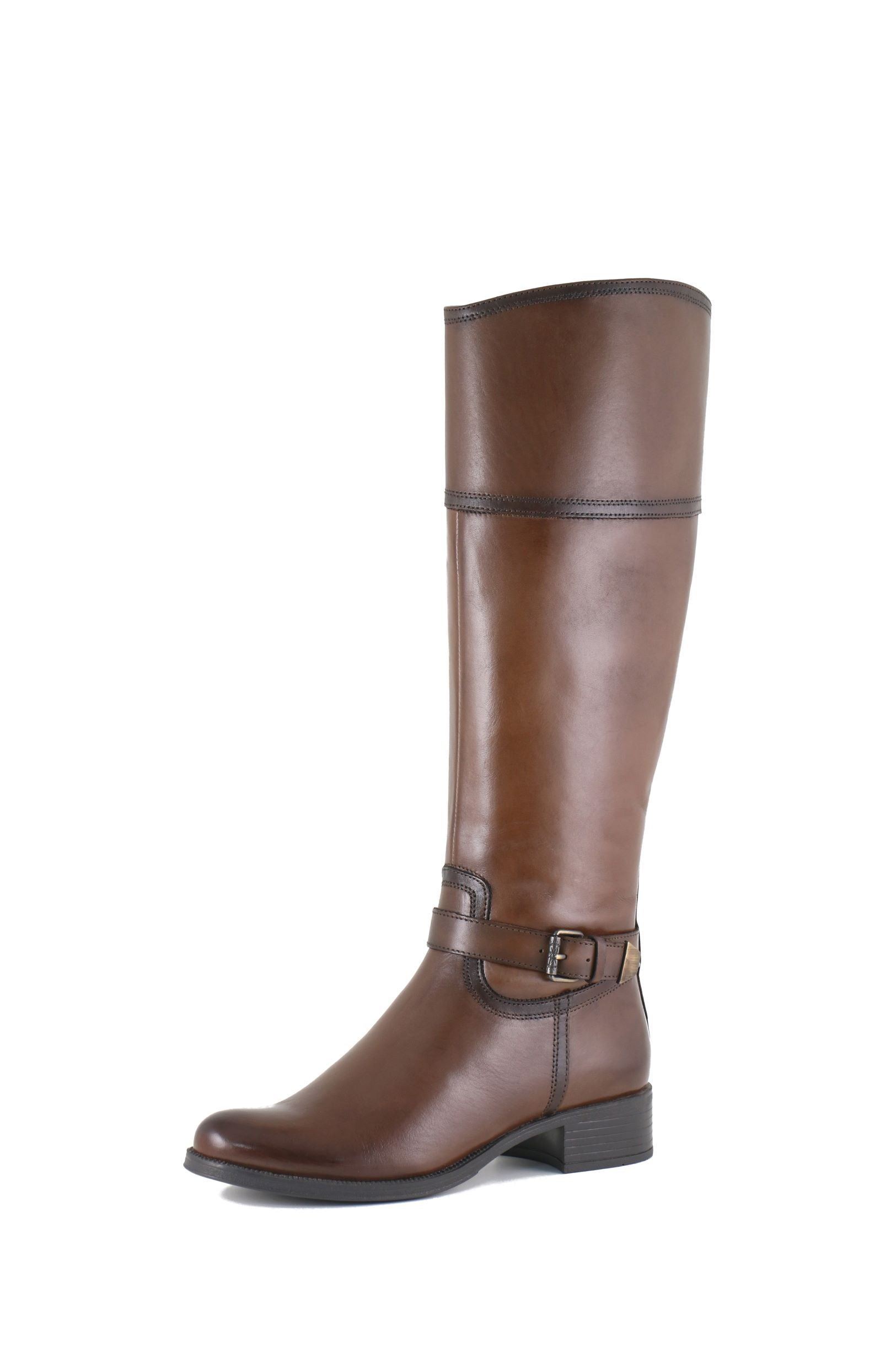 'Bussola' Siena Sara - Women's Tall Boot - Vachetta Luggage