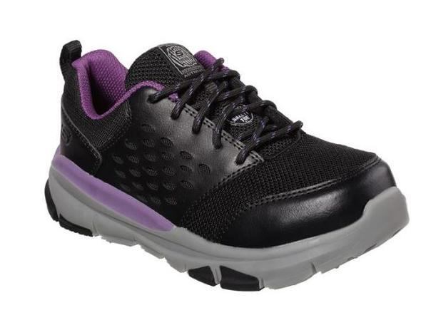 'Skechers' Women's Soven EH Alloy Safety Toe - Black / Purple