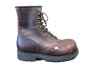 "'Outfitter' Men's 8"" Tower Climber Steel Toe - Brown"