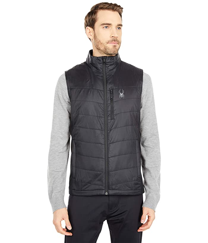 'Spyder' Men's Glissade Hybrid 60GR Insulated Vest - Black