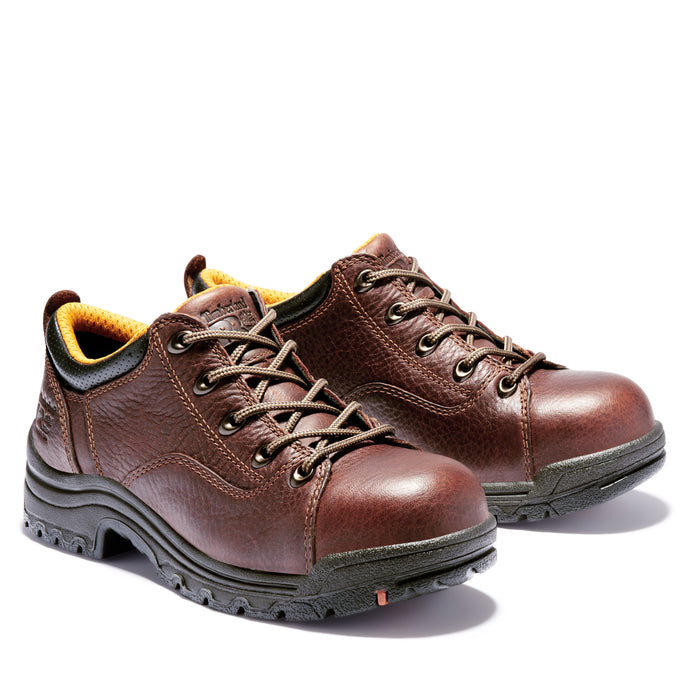 Titan Oxford Alloy Toe Shoe - Brown Full-Grain