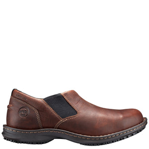 'Timberland Pro' Men's Gladstone ESD Steel Toe Slip On - Brown Full-Grain