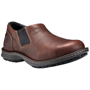 Gladstone ESD Steel Toe Slip On - Brown Full-Grain