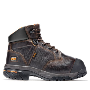 "'Timberland Pro' Men's 6"" Helix Int. Metguard Comp Toe - Dark Brown / Black"