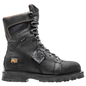 "'Timberland Pro' Men's 8"" Rigmaster WP Steel Toe - Dark Brown / Black"