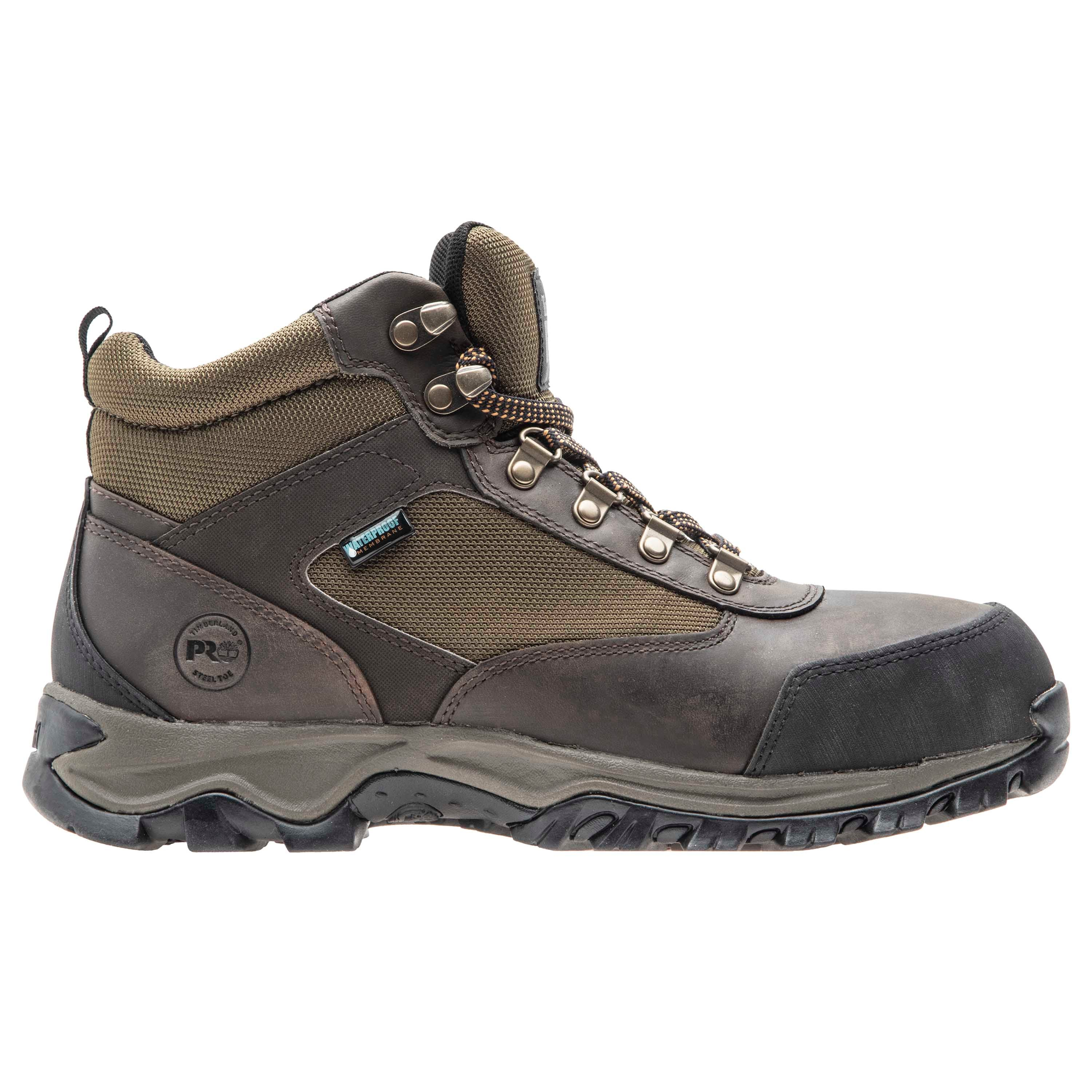 Keele Ridge Steel Toe Waterproof Boot - Brown / Green